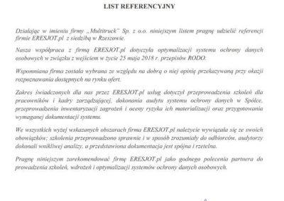 Referencje dla ERESJOT.pl od KIA Multitruck